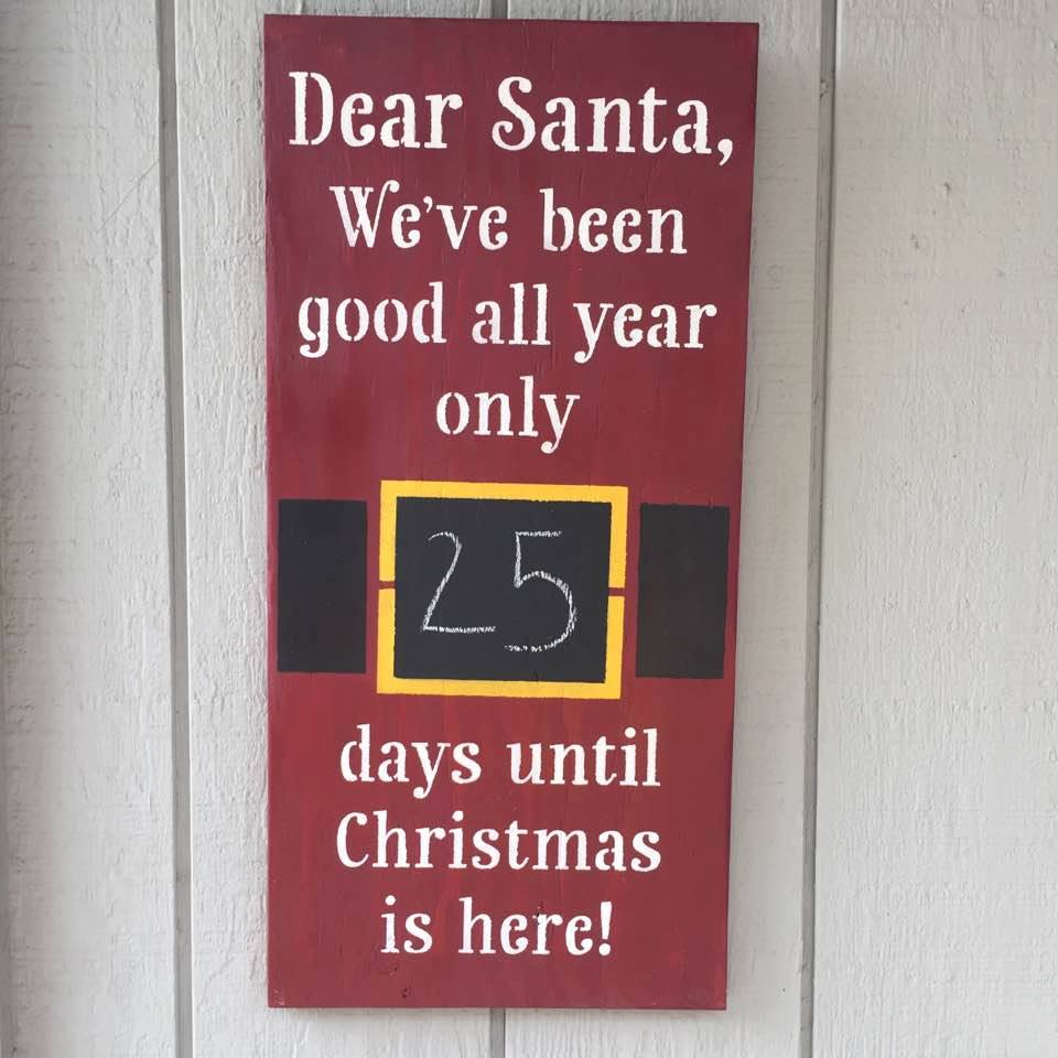 Santa Countdown Christmas Holiday Decor