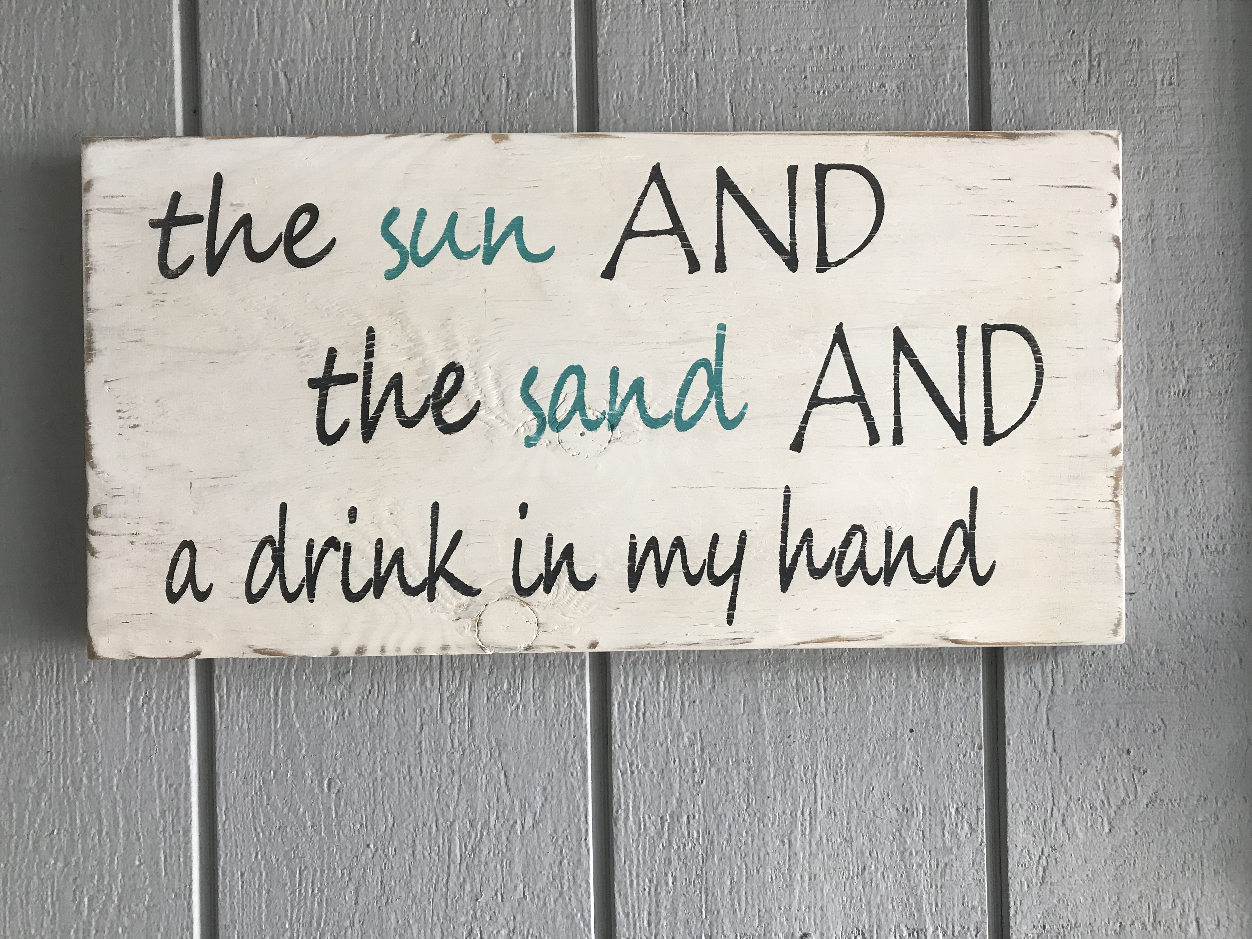 Sun and Sand Wood Sign