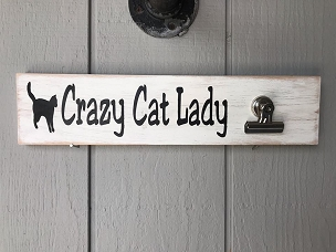 Crazy Cat Lady Wall Decor Sign