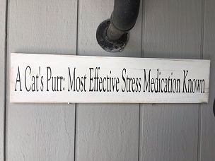 Cats Purr Stress Relief Wall Decor Sign