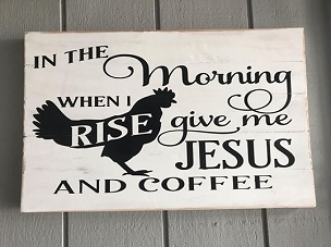 Coffee and Jesus Wall Art Decor