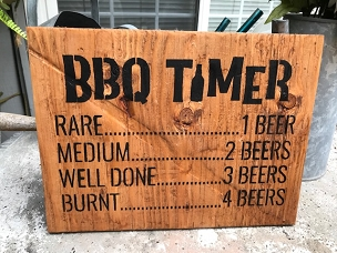 Barbecue Time Chart Patio Decor