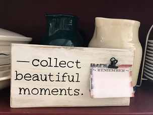Collect Beautiful Memories Wood Sign with Added Note Clip