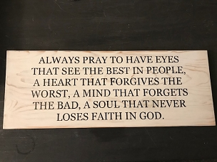 Always Pray for Faith in God Wood Sign