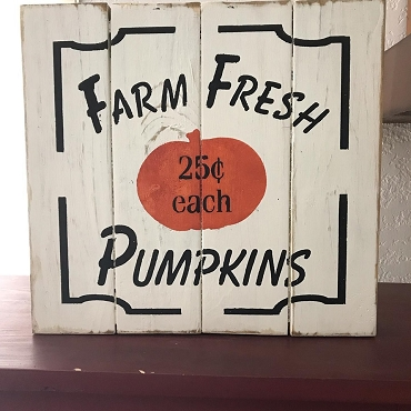 Farm Fresh Pumpkin Holiday Wall Decor