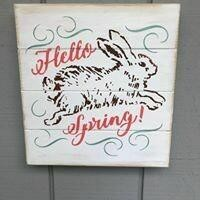 Hello Spring Bunny Wall Art
