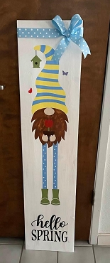 Vertical Wood Spring Décor Gnome -Local Pick up Only