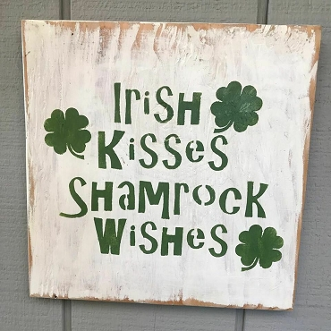 St Patrick Day Irish Kisses Shamrock Wishes Wall Art