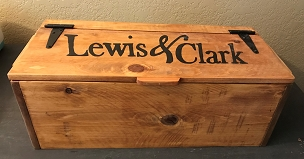 Lewis and Clark Wooden Storage Box