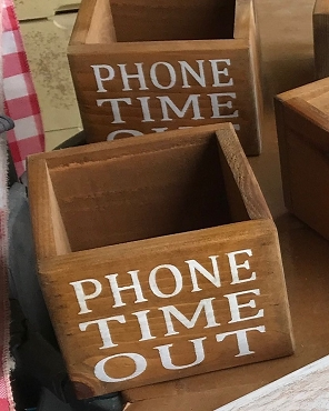 Phone Time Out Wood Box