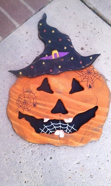 Pumpkin Witch Halloween Decor
