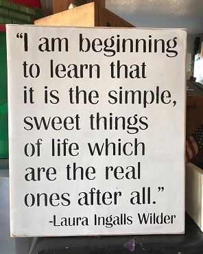 Simple Sweet Life Laura Ingalls Wall Art