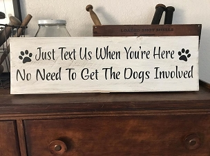 Dog Welcome Wall Art Sign