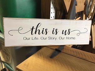 This is Us -Our Story Wood Sign