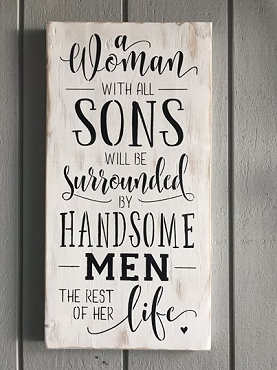 Sons and Mother Family Wall Decor