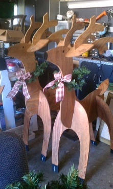 Fold up for Easy Storage Wood Reindeer-Local Pick up Only