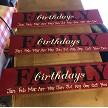 Family Birthday Wood Sign