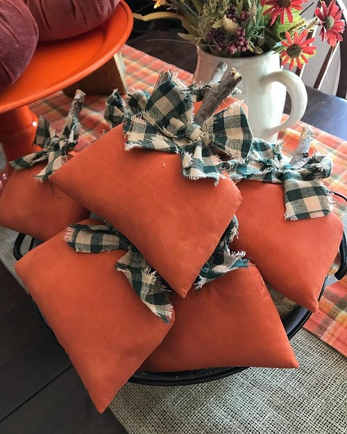 Fabric Pumpkin Thankful Home and Living Decor