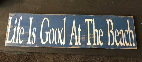 Life is Good at the Beach Wall Art Decor