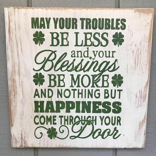 St Patricks Day Irish Blessing Wall Art Decor