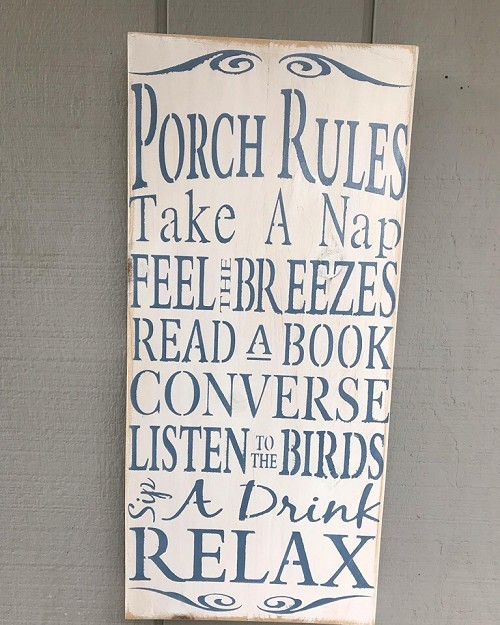 Porch Rules Wall Art Decor