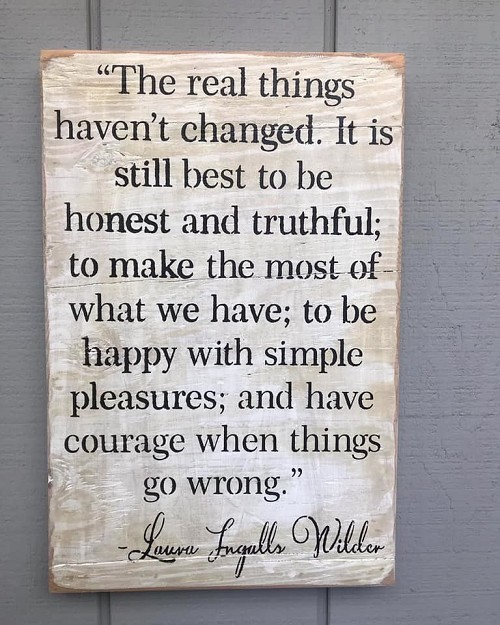 Real Things Have not Changed Laura Ingalls Wall Art Decor