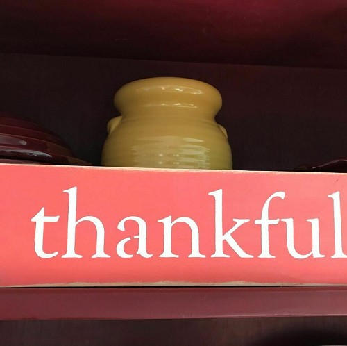 Thankful Home Decor Sign