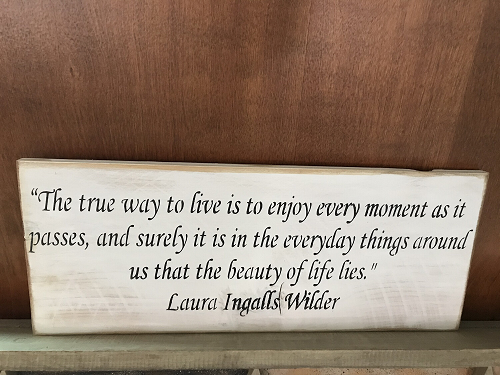 Laura Ingalls Home and Living Wall Art Decor